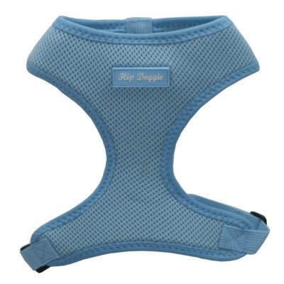 Hip Doggie Ultra Comfort Blue Mesh Harness Vest, XXL