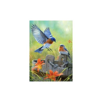 Buffalo Games Large Piece: Bluebirds Jigsaw Puzzle (300-Piece)