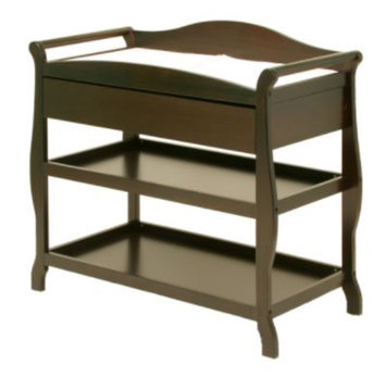 Storkcraft Baby Aspen Changing Table with Drawer - Espresso