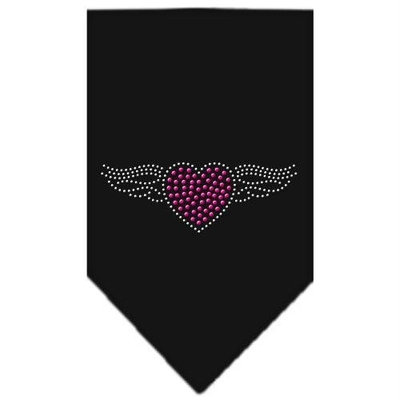 Mirage Pet Products 6705 SMBK Aviator Rhinestone Bandana Black Small