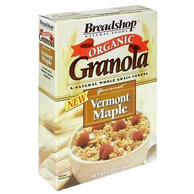 Breadshop's Granola Organic, Vermont Maple, 13-Ounce Boxes (Pack of 6)