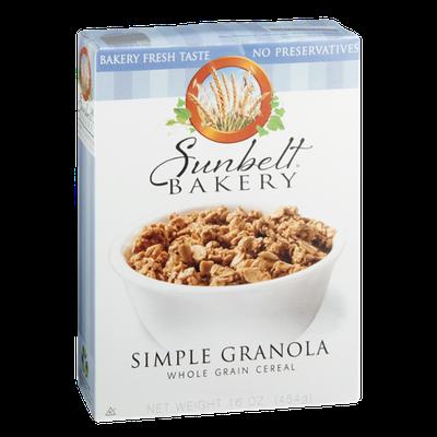 Sunbelt Bakery Cereal Simple Granola Whole Grain