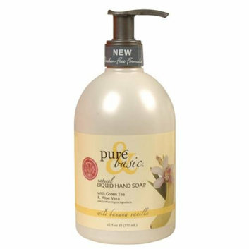 Pure and Basic Natural Liquid Hand Soap Wild Banana Vanilla 12.5 fl oz