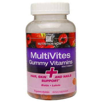 Nutrition Now MultiVites Gummy Vitamins, Biotin & Lutein, 70 ea