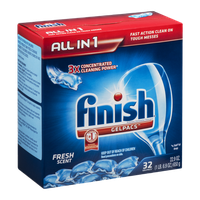 Finish All-in-1 Gelpacs Fresh Scent - 32 CT