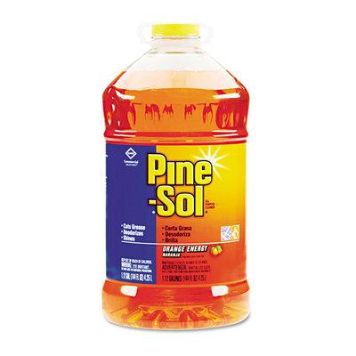 Clorox Pine Sol 41772EA All-Purpose Cleaner with Orange Fragrance - 144 Oz.