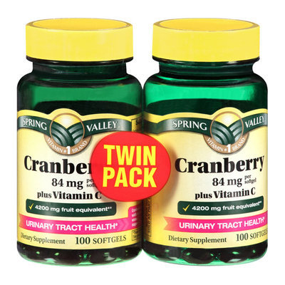 Spring Valley Plus Vitamin C Urinary Tract Health* Dietary Supplement Softgels Cranberry Fruit