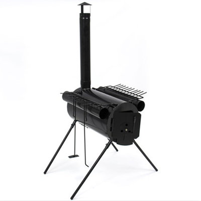 Sky Portable Military Steel Camping Wood Stove for Camp Cooking or as Tent Heater