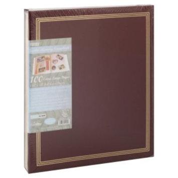 Pioneer Photo Albums SJ100 Jumbo Scrapbook - 50 Capacity - 14 x 11.75 - Screw Bound - Burgundy
