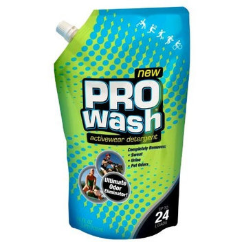 ProWash Activewear Detergent 3 Pack-Three-24 Fluid Ounce Packages Ultimate Odor and Stain Eliminator for Regular or HE Washing Machine