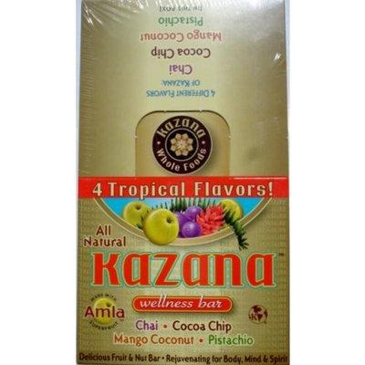 Kazana Wellness Bar, 4 Tropical Flavors, 16 Count
