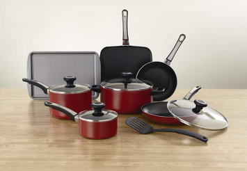 Farberware 12-pc. High Performance Nonstick Cookware Set, Red