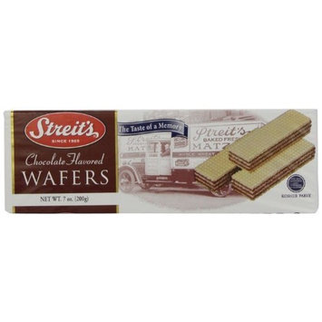 Streits Wafers Chocolate, 7-Ounce (Pack of 24)