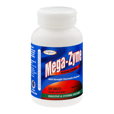 Enzymatic Mega-Zyne Max Strength Pancreatic Enzymes - 200 CT