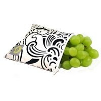 Itzy Ritzy Snack Happens Baby Reusable Snack Bag, Licorice Swirl
