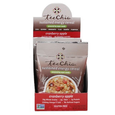 Teechia Cereal - Sustained Energy - Cranberry Apple - 1.76 Oz - 1 Case