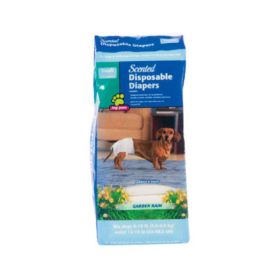Top Paw Garden Rain Scented Disposable Dog Diapers