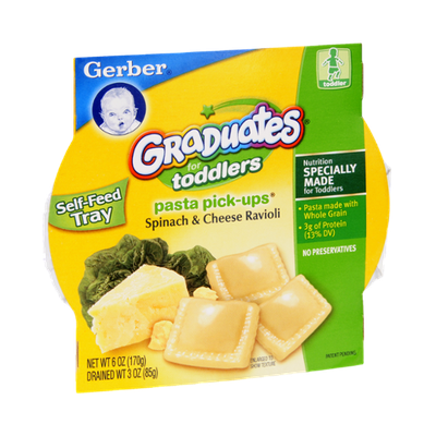 Gerber Graduates for Toddlers Pasta Pick-Ups Spinach & Cheese Ravioli