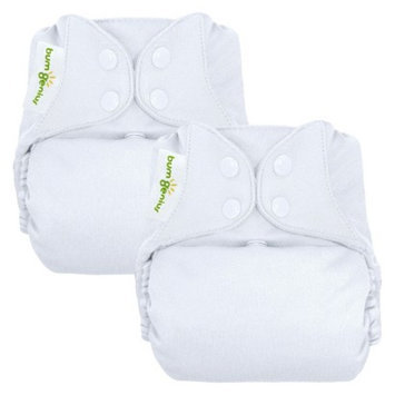bumGenius 4.0 One-Size Diaper - Snap Closure - (2 Pk) - White