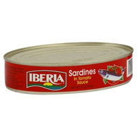 Iberia Oval Sardines In Tomato Sauce, 15-Ounce (Pack of 8)