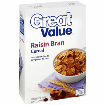 Great Value : Raisin Bran Cereal