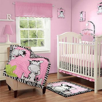 Baby Boom I Luv Zebra 3pc Crib Bedding Set, Pink