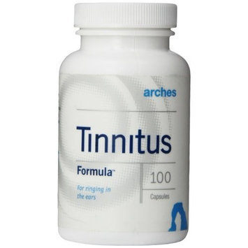 Arches Tinnitus Formulas Arches Tinnitus Formula - Now with Ginkgo Max 26/7 - Natural Tinnitus Treatment for Relief From Ringing Ears - 100 Count Bottle - 25 Day Supply