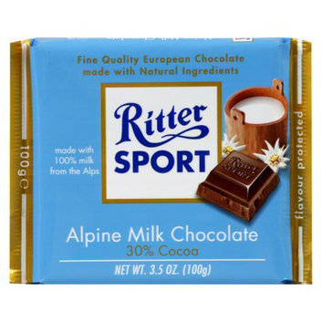 Ritter Sport Alpine Milk Chocolate Bar 3.5 oz
