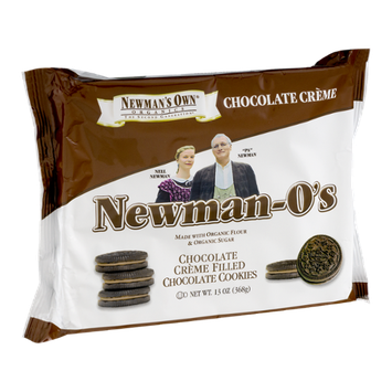 Newman's Own Organics Newman-O's Chocolate Creme Filled Chocolate Cookies