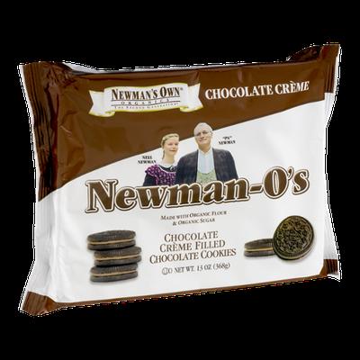 Newman's Own Organics Newman-O's Chocolate Creme Filled Chocolate Cookies