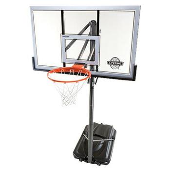 Lifetime Portable Power Lift Basketball Unit - Gray/Orange (54