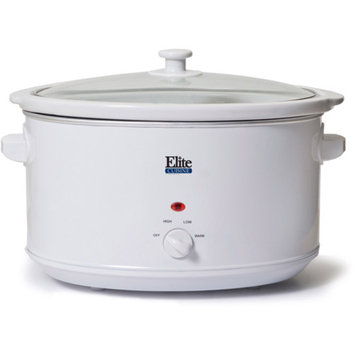 Elite Cuisine 8.5-Quart Slow Cooker, White