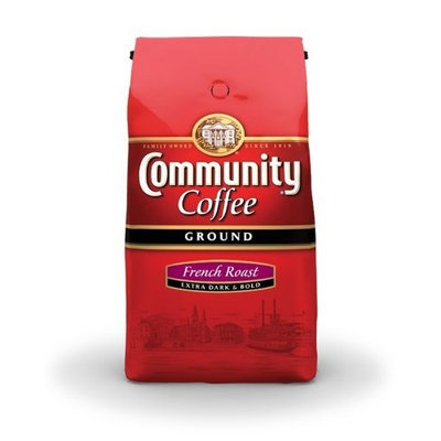 Community Coffee Ground Coffee, French Roast, 32-Ounce Bags (Pack of 2)