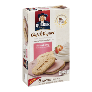 Quaker® Oat & Yogurt Sandwich Biscuits Strawberry