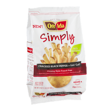 Ore Ida Simply Country Style French Fries Cracked Black Pepper and Sea Salt