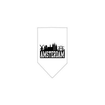 Ahi Amsterdam Skyline Screen Print Bandana White Large