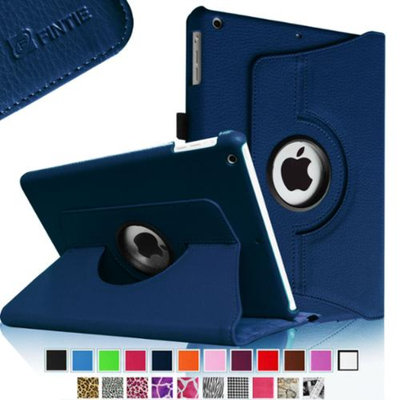 Fintie Rotating Stand Case Cover with Auto Sleep / Wake Feature for iPad Air / iPad 5 (5th Generation), Navy