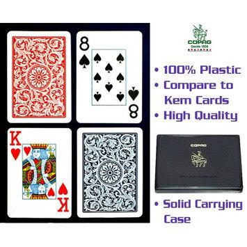 Trademark Global Games Trademark Global Copagt Poker Size Jumbo Index Blue/Red Setup
