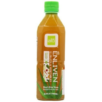 ALO Enliven, Aloe Vera Drink with 12 Fruits & Vegetables. 16.9 oz (pack of 12)