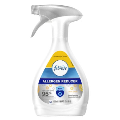 Febreze Fabric Refresher Allergen Reducer Clean Splash Air Freshener, 27 fl oz