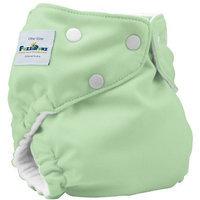FuzziBunz One Size Diaper, Mint, 7-35 Pounds