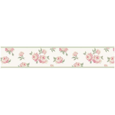 Sweet Jojo Designs Riley's Roses Collection Wall Paper Border