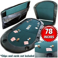 Trademark Global Games Trademark Global Texas Hold'em Poker Folding Tabletop With Cupholders