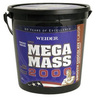 Weider Mega Mass 2000 6.6-pound Bottle. Chocolate, Tub