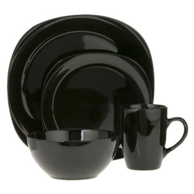 CCA International Quadro 16-pc. Dinnerware Set - Black