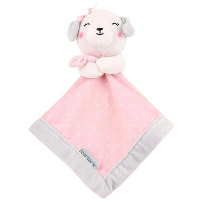 Carter's Security Blanket With Pink Plush Dog
