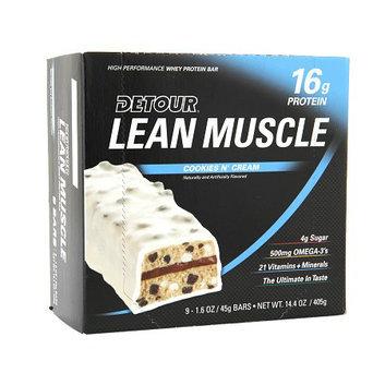 Detour Lean Muscle 16g Whey Protein Bar Cookies N' Cream
