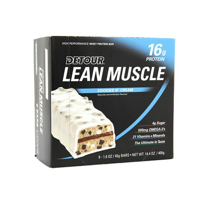 Detour Lean Muscle 16g Whey Protein Bar Cookies N' Cream