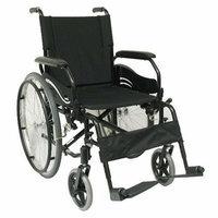 Karman Healthcare High Strength Lightweight Swing-Away Footrests Wheelchair in Black
