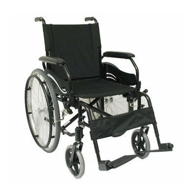 Karman Healthcare High Strength Lightweight Swing-Away Footrests Wheelchair in Black
